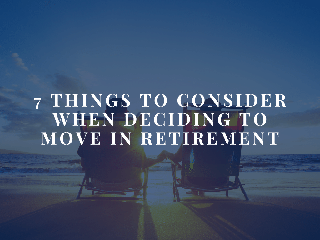 7 things to consider for retirement January blog