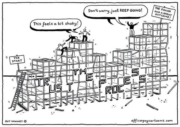 Trust the Process cartoon