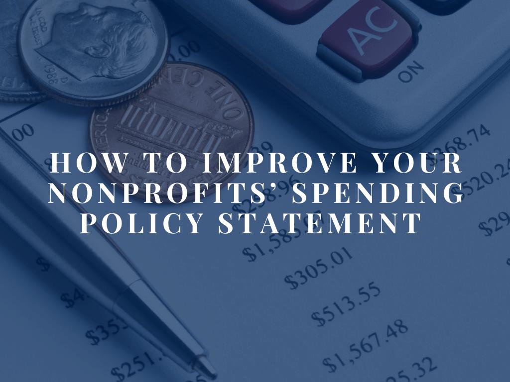Non-profit spending blog June